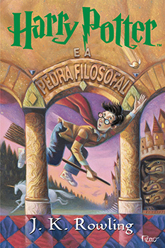 Capa do livro Harry Potter e a Pedra Filosofal