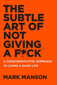 Capa do livro The Subtle Art of Not Giving A F*ck